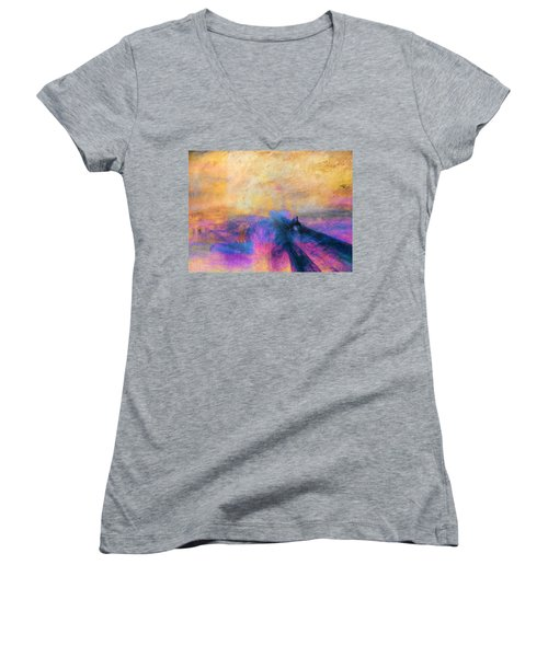Inv Blend 12 Turner Women's V-Neck T-Shirt (Junior Cut) by David Bridburg