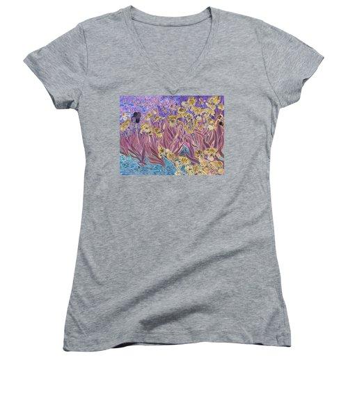 Inv Blend 6 Van Gogh Women's V-Neck T-Shirt