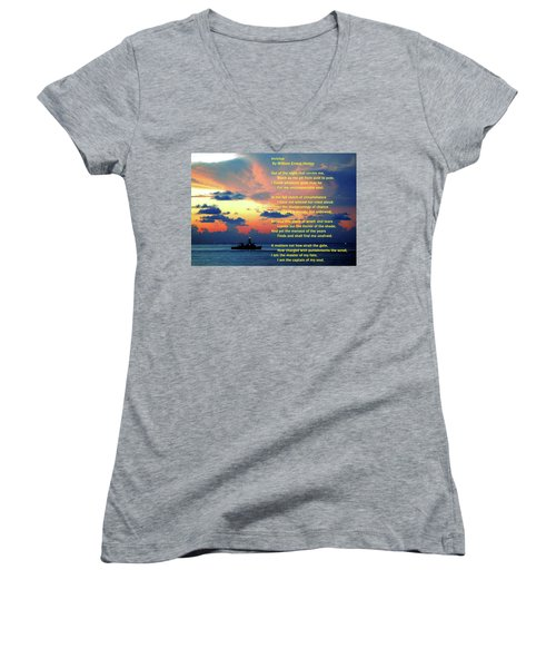 Invictus By William Ernest Henley Women's V-Neck