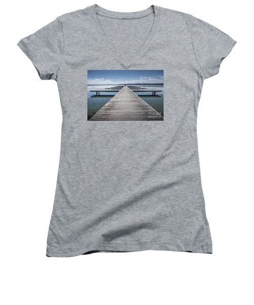 Inviting Walk Women's V-Neck T-Shirt
