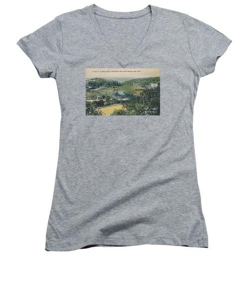 Inwood Postcard Women's V-Neck T-Shirt (Junior Cut) by Cole Thompson