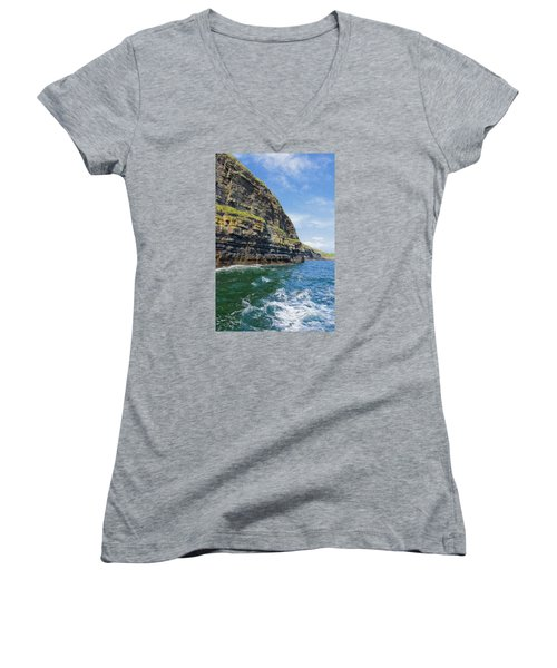 Ireland Cliffs Women's V-Neck T-Shirt
