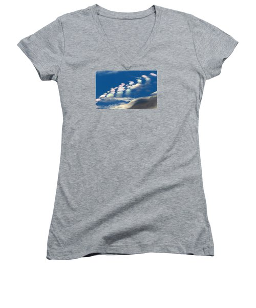 Iridescent Clouds 2 Women's V-Neck (Athletic Fit)