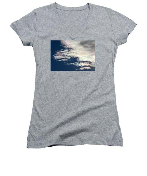 Iridescent Clouds 3 Women's V-Neck
