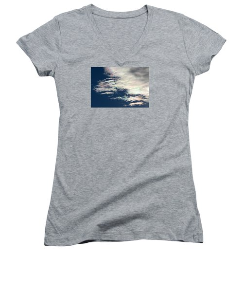 Iridescent Clouds 3 Women's V-Neck (Athletic Fit)