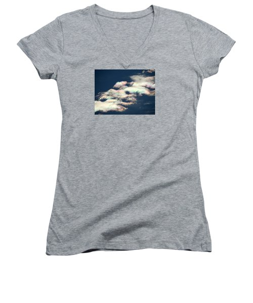 Iridescent Clouds Women's V-Neck (Athletic Fit)