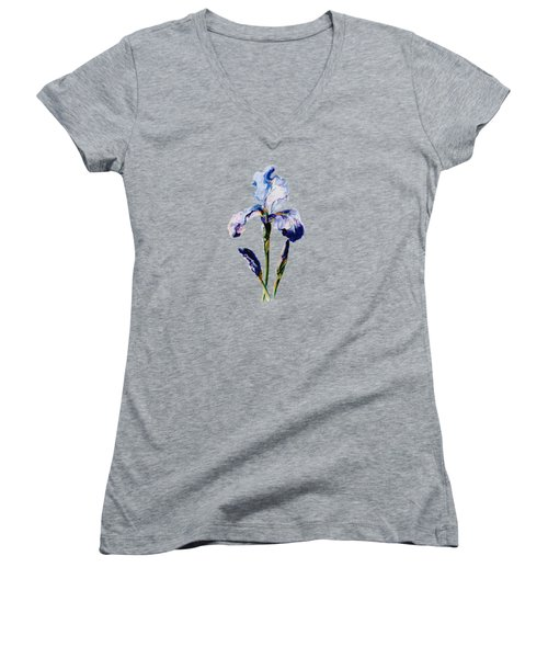 Iris A Women's V-Neck T-Shirt (Junior Cut) by Mary Armstrong