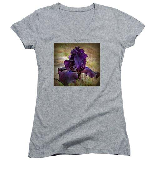 Iris Beauty Women's V-Neck T-Shirt (Junior Cut) by Katie Wing Vigil