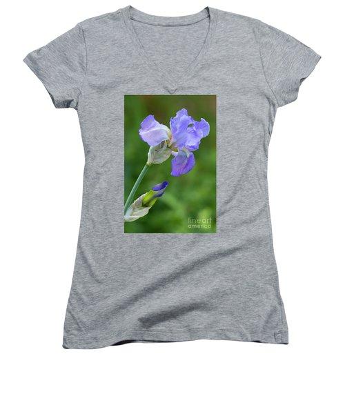 Iris Blue Women's V-Neck