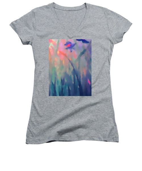 Iris Women's V-Neck T-Shirt (Junior Cut) by Holly Martinson