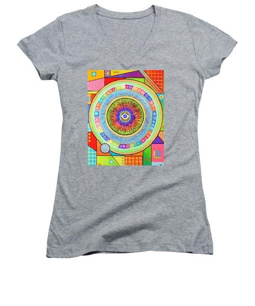 Iris Women's V-Neck T-Shirt (Junior Cut) by Jeremy Aiyadurai