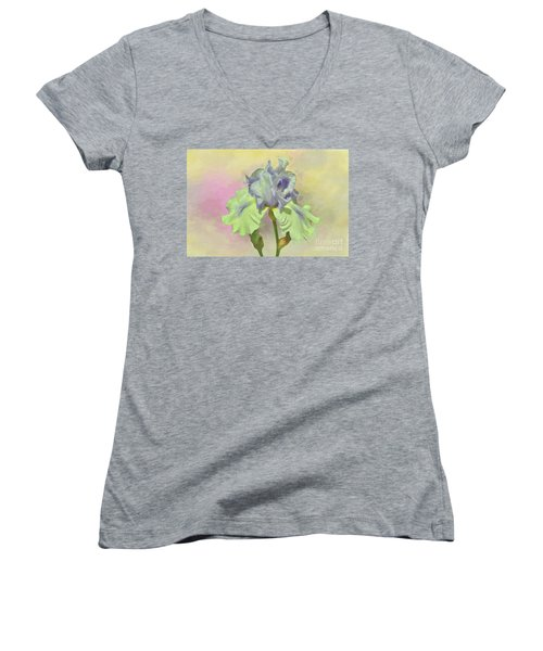 Iris Pastels Women's V-Neck (Athletic Fit)