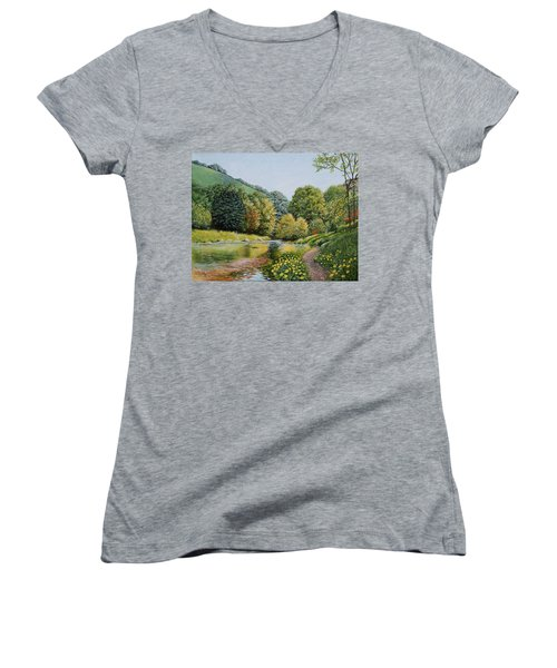 Irish Afternoon Stroll Women's V-Neck (Athletic Fit)