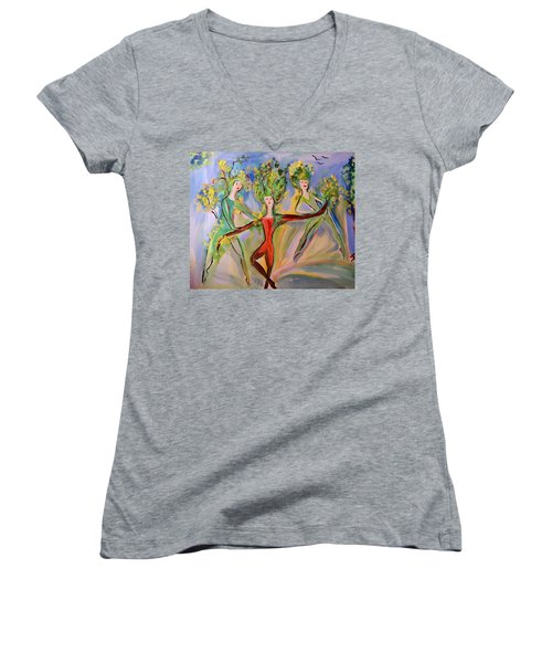 Irish Greenery  Women's V-Neck T-Shirt