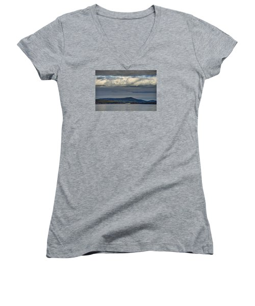 Irish Sky - Dingle Bay Women's V-Neck (Athletic Fit)
