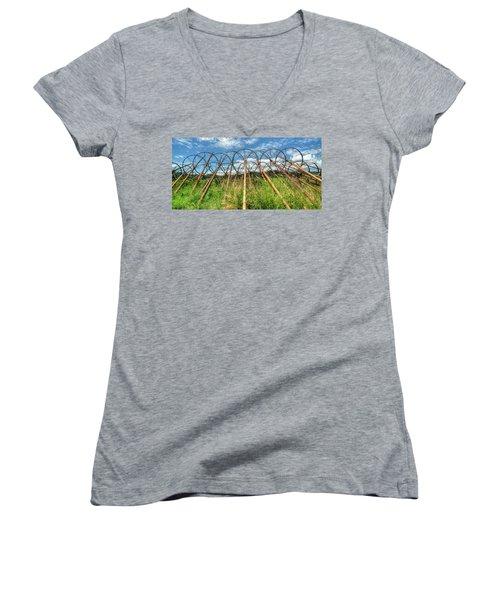 Irrigation Pipes 1 Women's V-Neck T-Shirt