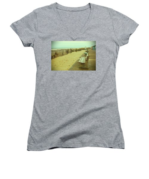 Is This A Beach Day - Jersey Shore Women's V-Neck (Athletic Fit)