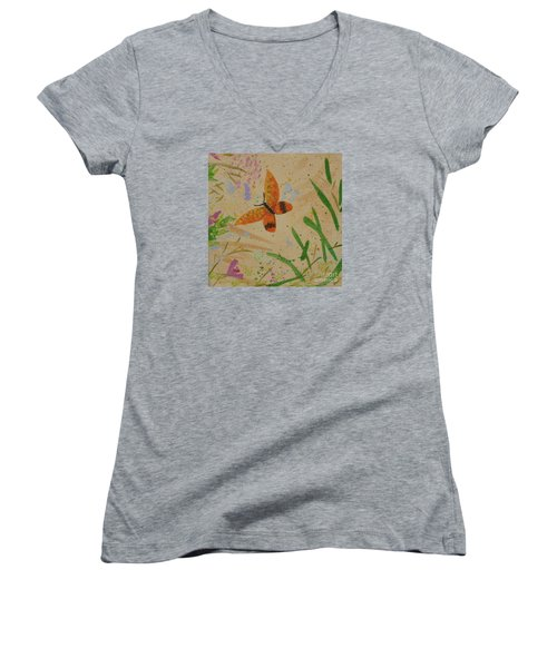 Island Butterfly Series 3 Of 6 Women's V-Neck (Athletic Fit)
