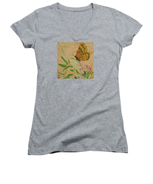 Island Butterfly Series 4 Of 6 Women's V-Neck (Athletic Fit)
