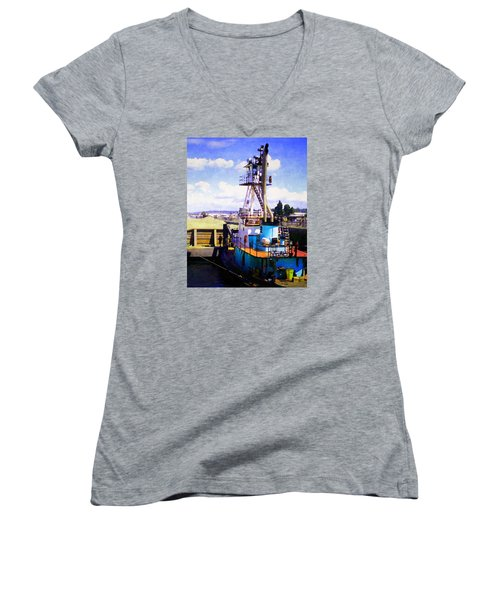 Island Chief In The Ballard Locks Women's V-Neck
