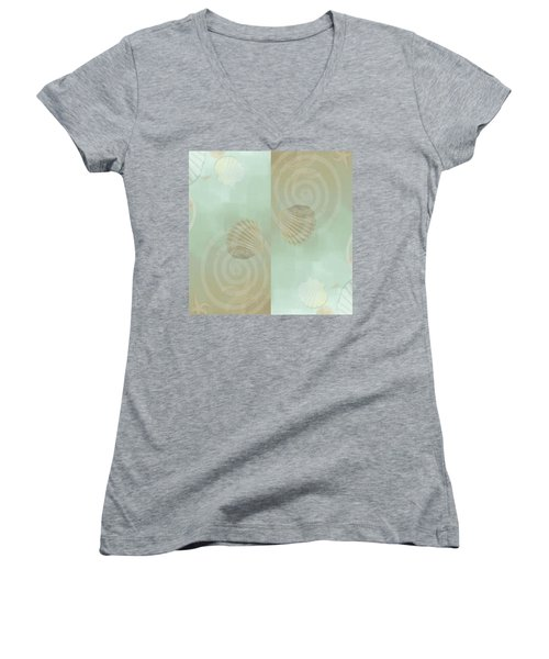 Women's V-Neck featuring the photograph Island Goddess by Roxy Hurtubise