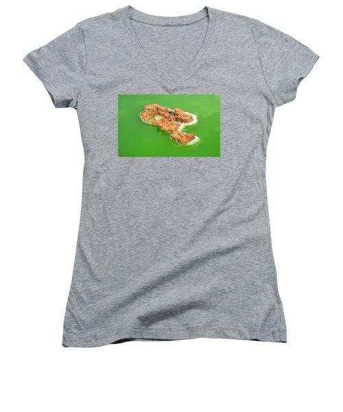 Dallol #4 Women's V-Neck T-Shirt (Junior Cut) by Aidan Moran