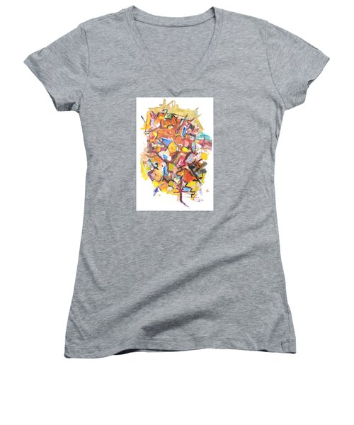 Island In A Sea Of Lightness Women's V-Neck (Athletic Fit)