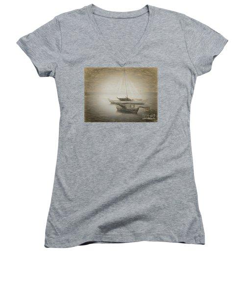 Island Sketches V Women's V-Neck T-Shirt