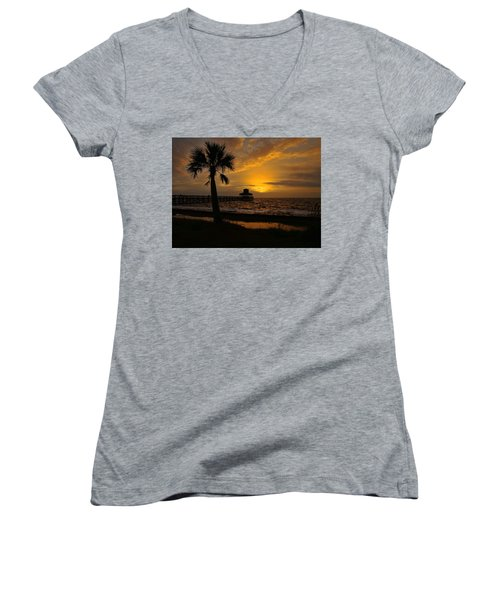 Island Sunrise Women's V-Neck T-Shirt