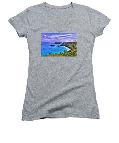Isle Of Sands Women's V-Neck T-Shirt