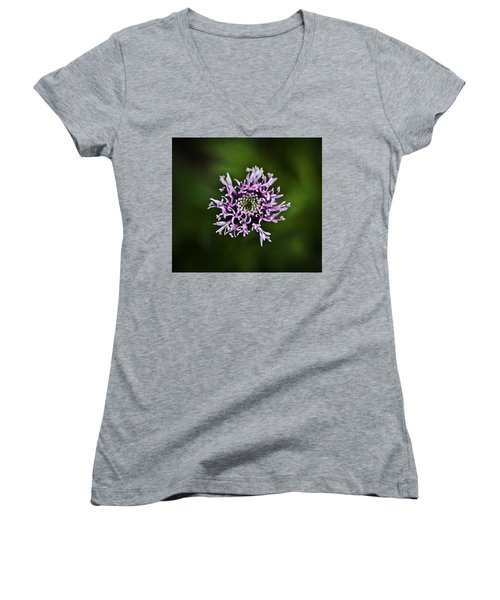 Isolated Flower Women's V-Neck (Athletic Fit)