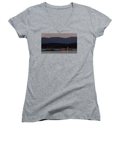 Isolated Lighthouse Women's V-Neck (Athletic Fit)