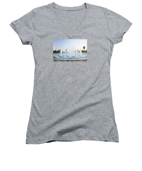 Women's V-Neck T-Shirt (Junior Cut) featuring the photograph Istanbul City Center I by Yuri Santin