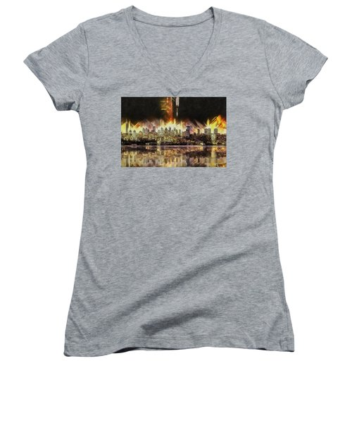 Istanbul In My Mind Women's V-Neck (Athletic Fit)