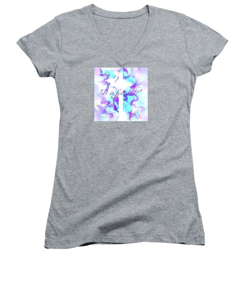 It Is Finished Women's V-Neck T-Shirt