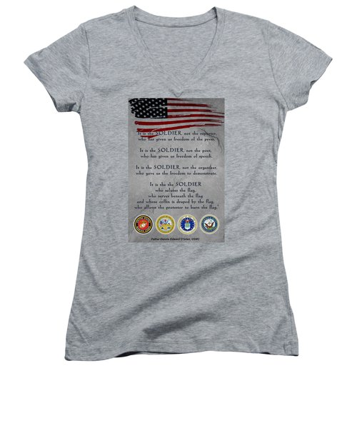 It Is The Soldier Women's V-Neck