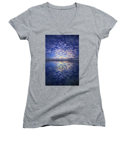 Women's V-Neck T-Shirt (Junior Cut) featuring the photograph It Was Your Song by Phil Koch