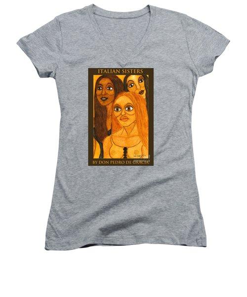 Italian Sisters Women's V-Neck T-Shirt