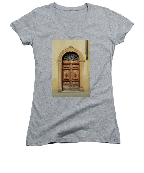 Italy - Door One Women's V-Neck (Athletic Fit)