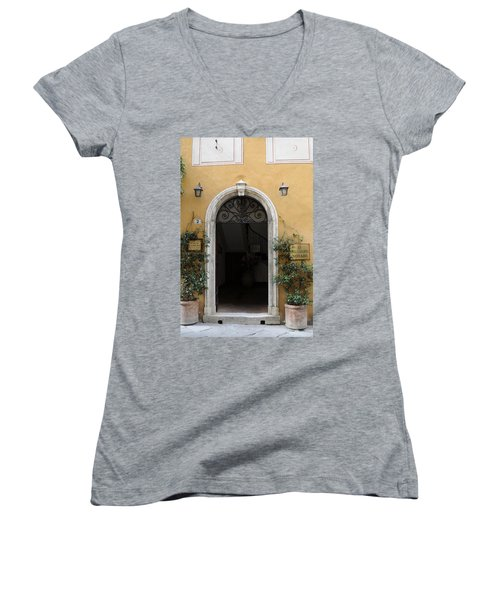 Italy - Door Thirteen Women's V-Neck (Athletic Fit)