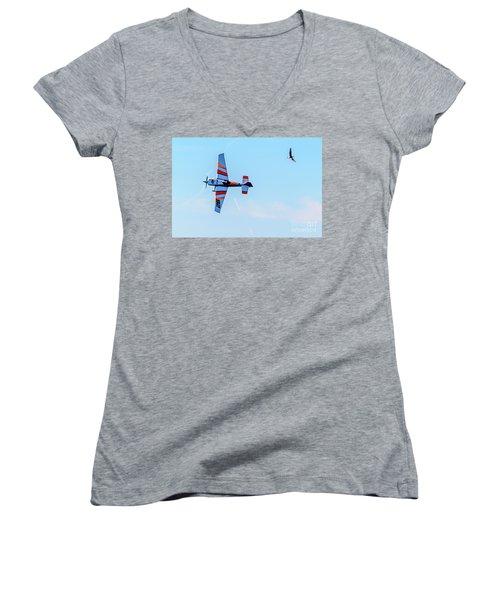 It's A Bird And A Plane, Red Bull Air Show, Rovinj, Croatia Women's V-Neck