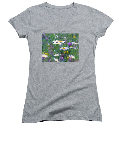 It's A Daisy Kind Of Day Women's V-Neck T-Shirt