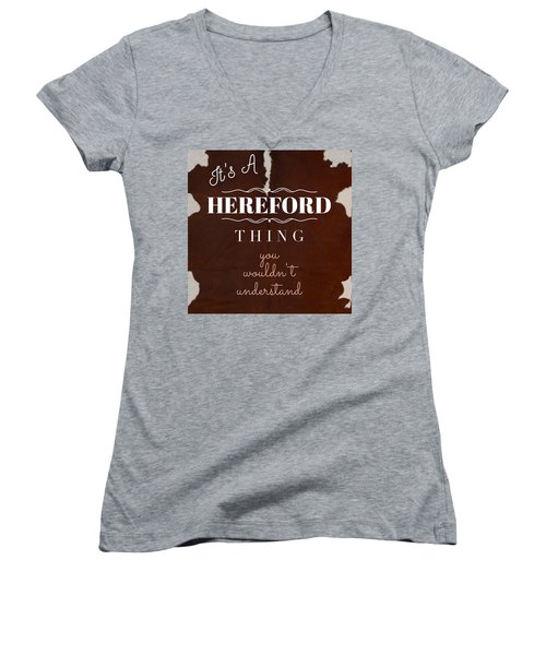 It's A Hereford Thing You Wouldn't Understand Women's V-Neck (Athletic Fit)
