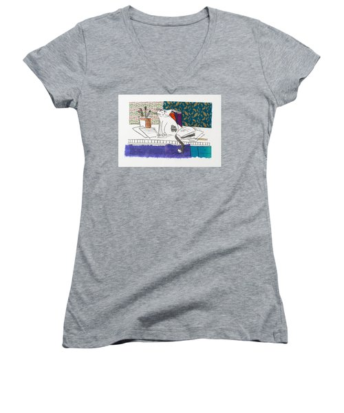 Its All About Me Women's V-Neck T-Shirt (Junior Cut) by Leela Payne