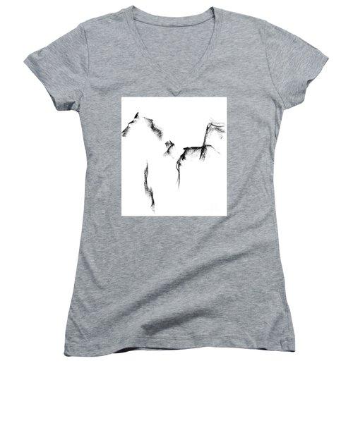 Its Just A Little Sketch Women's V-Neck T-Shirt (Junior Cut) by Frances Marino