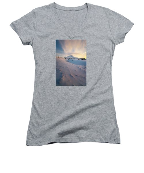 It's Not Spring Yet Women's V-Neck T-Shirt (Junior Cut) by Ryan Manuel