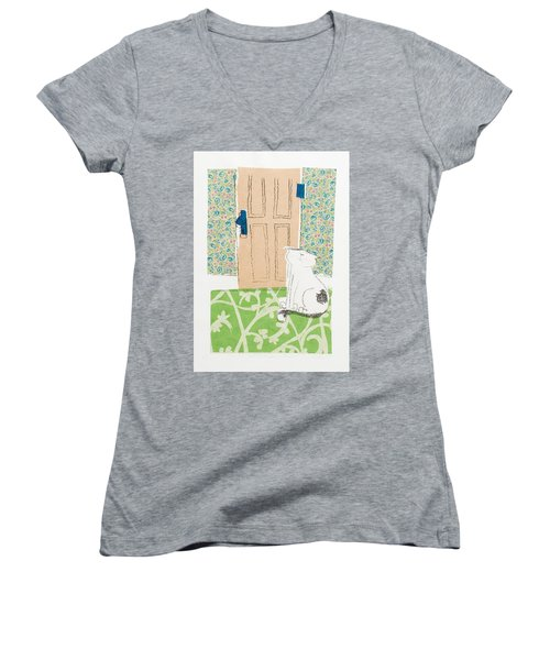 Ive Got Places To Go People To See Women's V-Neck T-Shirt (Junior Cut) by Leela Payne