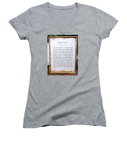 I've Learned Women's V-Neck T-Shirt