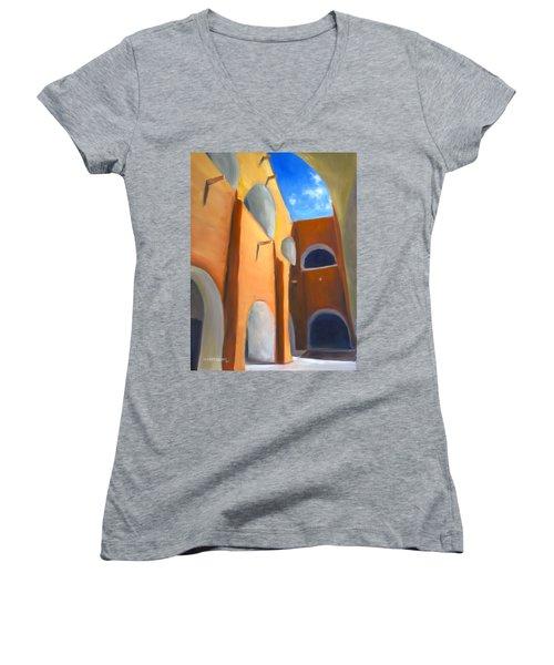 Izamal - Monastery San Antonio De Padua  Women's V-Neck T-Shirt