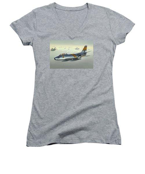 Jabby Jabara Women's V-Neck T-Shirt